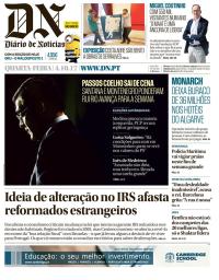 capa Diário de Notícias de 4 outubro 2017