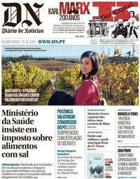 capa Diário de Notícias de 5 maio 2018