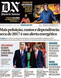 capa Diário de Notícias de 5 junho 2018