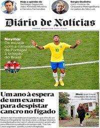 capa Diário de Notícias de 5 julho 2018