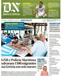 capa Diário de Notícias de 5 setembro 2017