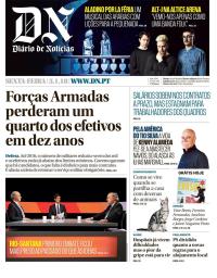 capa Diário de Notícias de 6 janeiro 2018