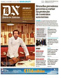 capa Diário de Notícias de 6 fevereiro 2018