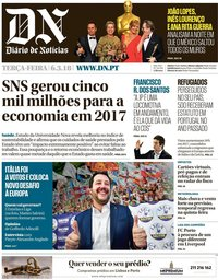 capa Diário de Notícias de 6 março 2018