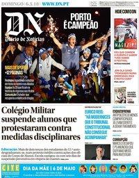 capa Diário de Notícias de 6 maio 2018