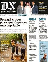 capa Diário de Notícias de 6 junho 2018