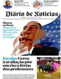 capa Diário de Notícias de 6 julho 2018
