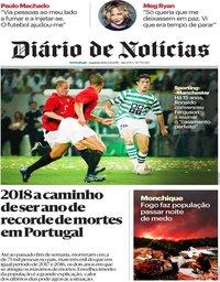 capa Diário de Notícias de 6 agosto 2018