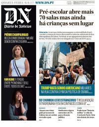 capa Diário de Notícias de 6 setembro 2017