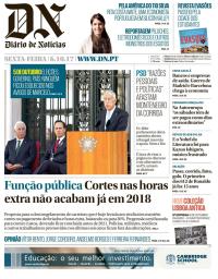 capa Diário de Notícias de 6 outubro 2017