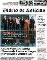 capa Diário de Notícias de 6 outubro 2018