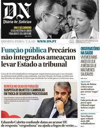 capa Diário de Notícias de 7 março 2018