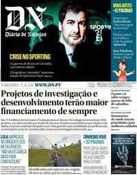 capa Diário de Notícias de 7 abril 2018
