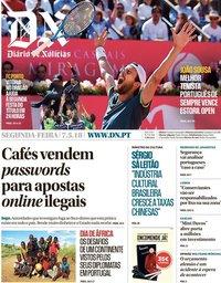 capa Diário de Notícias de 7 maio 2018