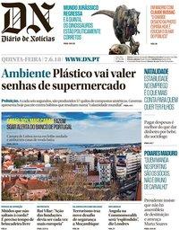 capa Diário de Notícias de 7 junho 2018