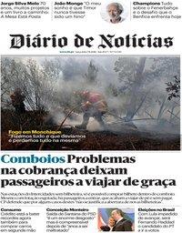 capa Diário de Notícias de 7 agosto 2018