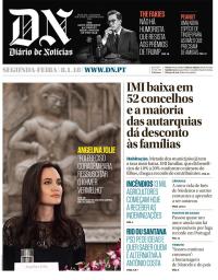 capa Diário de Notícias de 8 janeiro 2018