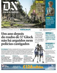 capa Diário de Notícias de 8 fevereiro 2018