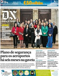 capa Diário de Notícias de 8 março 2018