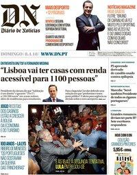 capa Diário de Notícias de 8 abril 2018