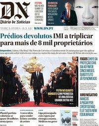 capa Diário de Notícias de 8 maio 2018
