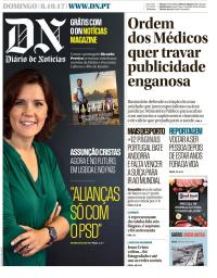 capa Diário de Notícias de 8 outubro 2017