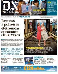 capa Diário de Notícias de 9 fevereiro 2018