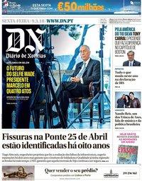 capa Diário de Notícias de 9 março 2018