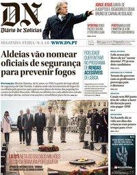 capa Diário de Notícias de 9 abril 2018
