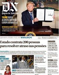 capa Diário de Notícias de 9 maio 2018