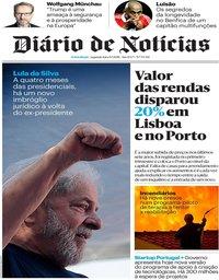 capa Diário de Notícias de 9 julho 2018