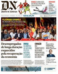 capa Diário de Notícias de 9 outubro 2017
