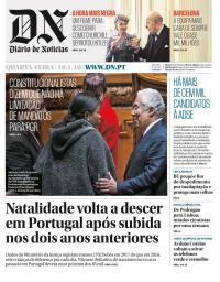 capa Diário de Notícias de 10 janeiro 2018