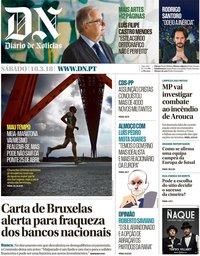 capa Diário de Notícias de 10 março 2018