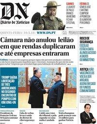 capa Diário de Notícias de 10 maio 2018