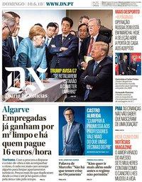 capa Diário de Notícias de 10 junho 2018