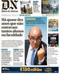 capa Diário de Notícias de 10 setembro 2017