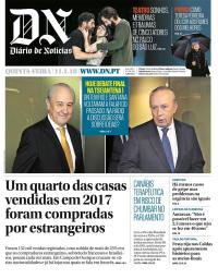 capa Diário de Notícias de 11 janeiro 2018