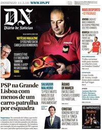 capa Diário de Notícias de 11 março 2018