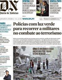 capa Diário de Notícias de 11 abril 2018