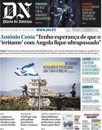 capa Diário de Notícias de 11 maio 2018
