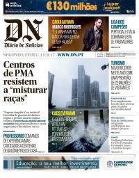 capa Diário de Notícias de 11 setembro 2017