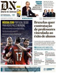 capa Diário de Notícias de 11 outubro 2017