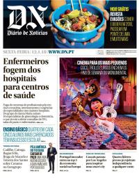 capa Diário de Notícias de 12 janeiro 2018