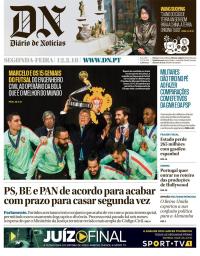 capa Diário de Notícias de 11 fevereiro 2018