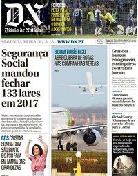capa Diário de Notícias de 12 março 2018