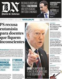 capa Diário de Notícias de 12 abril 2018