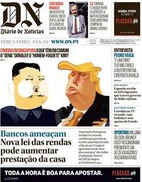 capa Diário de Notícias de 12 junho 2018