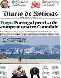 capa Diário de Notícias de 12 julho 2018