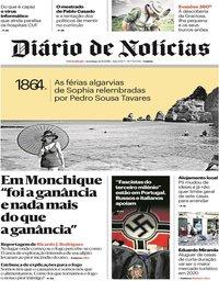 capa Diário de Notícias de 12 agosto 2018